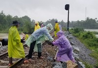 Đường sắt Bắc Nam đã được khắc phục sau mưa lớn