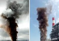 Nhiệt điện Vĩnh Tân 1 thông lò hơi, khói bốc cao chục mét