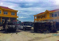 Truy nã toàn quốc 2 thanh niên gây rối, đốt xe cảnh sát