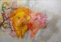 Ngộ nghĩnh ngắm lợn ngồi xe hơi, khiêu vũ mùa xuân