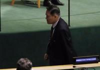 Đại sứ Triều Tiên bỏ đi, tẩy chay ông Trump phát biểu