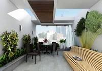 Ngôi nhà 4 tầng ngập tràn mảng xanh đẹp mê ly
