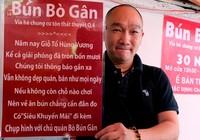 Quán bún bò gân 'bá đạo' nhất Sài Gòn thay bảng nội quy bằng... thơ