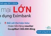 Khuyến mãi lớn cùng thẻ tín dụng Eximbank