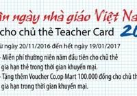 Eximbank: Teacher Card Paypass mừng ngày Nhà giáo VN