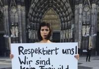 Khỏa thân phản đối vụ tấn công tình dục chấn động nước Đức