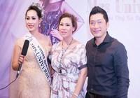 Diễn viên Kinh Quốc cùng vợ đại gia chúc mừng Hạnh Lê