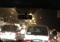 21 giờ mùng 6 Tết, dòng xe vẫn ngồn ngộn trên cầu Mỹ Thuận