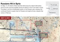 Nga bác bỏ tin IS phá hủy 4 trực thăng Nga ở Syria