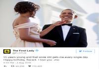 Lời nhắn tình tứ của Michelle Obama trong ngày sinh nhật chồng