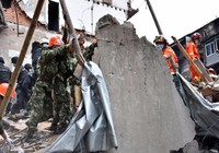 Sập nhà hàng loạt tại Trung Quốc, 20 người chết
