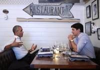 Cặp đôi chính trị gia Obama - Trudeau lại gây sốt