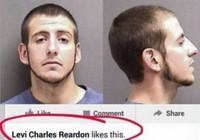 """Tên trộm bị tóm vì """"like"""" ảnh truy nã chính mình trên Facebook"""