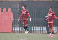 Chùm ảnh: Tuấn Anh cùng đội tuyển U-23 tập luyện cho vòng loại châu Á
