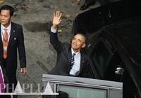 Clip đoàn xe Tổng thống Obama rời chùa Ngọc Hoàng