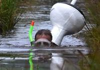 Ngộ nghĩnh với giải vô địch lặn bùn dùng ống thở