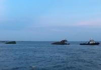 Sà lan bị tàu Singapore đâm chìm trên sông Thị Vải