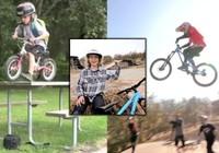 Clip: Cậu bé 3 tuổi biểu diễn đi khả năng đi xe đạp địa hình