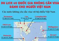 Infographic: Du lịch 48 quốc gia, vùng lãnh thổ không cần Visa