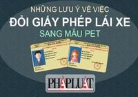 Infographic: Lưu ý quan trọng về chuyển đổi GPLX qua mẫu PET