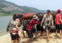 Bắt giữ gỗ lậu cất giấu dưới sông Vu Gia