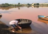 Dân ven sông Cu Đê hoang mang vì nước bỗng vàng đục
