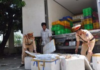Bắt 250 kg gân bò không giấy tờ tuồn vào Đà Nẵng