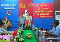 Bộ Tư pháp bổ nhiệm nhân sự mới tại Quảng Ninh
