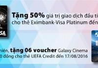 Ưu đãi lớn cho người dùng thẻ của Eximbank