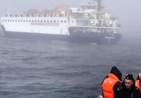 Tàu trinh sát Nga bị chìm do va chạm tàu chở hàng