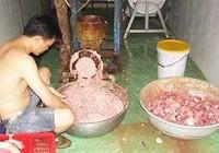 Clip phát hiện cơ sở làm bò viên làm từ thịt thối
