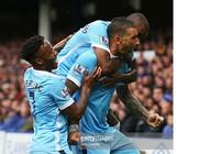 Everton 0-2 Man City: Màu xanh thành Man chiếm ngôi đầu bảng