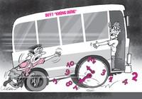 Hiểm họa rình rập khi xe buýt chạy đua