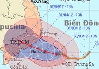 Chiều tối nay 31-3: Bão số 1 cách Bình Thuận 150 km