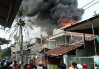 Cháy lớn ở Mộc Hóa (Long An), 30 xe máy bị thiêu rụi