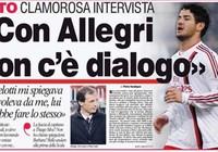 """Pato công khai chỉ trích """"thày"""" Allegri trên mặt báo"""