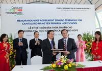 Góp 2,2 tỉ đồng xây dựng trường học ở Phú Thọ