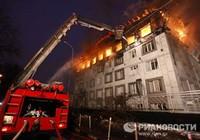 Cháy lớn ở Matxcơva, trưởng cơ quan cứu hỏa thiệt mạng