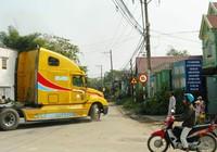Xe container vẫn chạy vào đường cấm