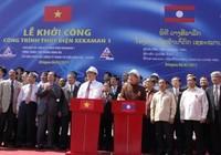 Khởi công thủy điện lớn nhất ở Lào do Việt Nam đầu tư
