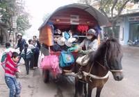 Chở học sinh đến trường bằng xe ngựa