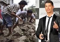 Ronaldo ủng hộ gần tám triệu đôla cho nạn nhân động đất Nepal