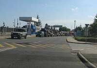 Đoàn xe quân sự bí mật xuất hiện trên biên giới Hungary-Ukraine