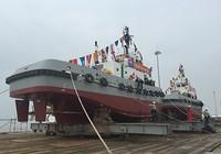 Hạ thủy 2 tàu kéo lai dắt hiện đại của Quân chủng Hải quân