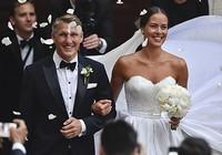 Chùm ảnh đội trưởng tuyển Đức kết hôn với mỹ nhân làng quần vợt