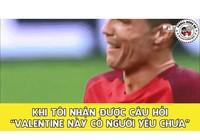 Ảnh chế:Ronaldo khóc vì Valentine,Mr Bean làm fan Barca