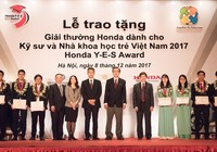 Trao giải thưởng Honda Y-E-S 2017 cho kỹ sư trẻ