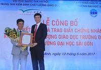 Trường ĐH Sài Gòn đạt chuẩn kiểm định giáo dục