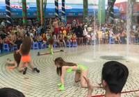 Phẫn nộ nhảy khiêu dâm trước mắt trẻ con ở Đầm Sen