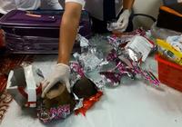 Clip:5 kg sừng tê giác nhập lậu bi bắt tại Tân Sơn Nhất